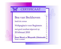 behaalde certificaten